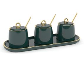 3D model Green Ceramic Sugar Bowls