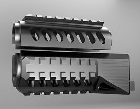 3D print model Airsoft Aks74u tactical handguard