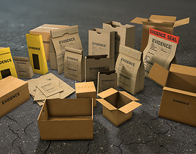 3D model Crime Scenes - Evidence Packages and Boxes
