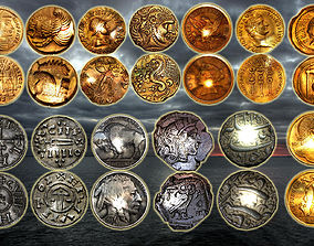 3D asset ancient coins colection