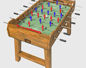 3D model Low Poly PBR Foosball Table