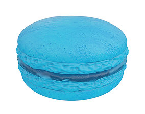 3D Blue macaroon with jam