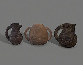 3D model 3 Medieval Jugs