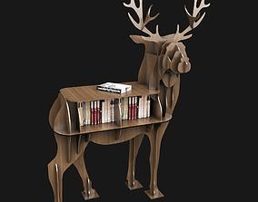 3D Deer Bookshelf