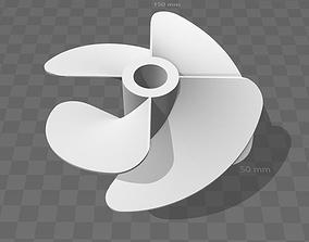 4 blade propeller 3D printable model