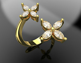 Marquise diamond ring Fashion jewelry 3d printing file 2