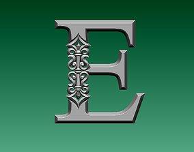3D print model letter E
