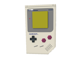 Low Poly Gameboy 3D asset