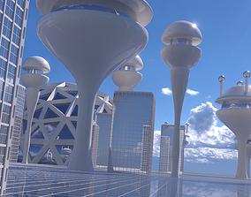 Futuristic City 2 3D model town