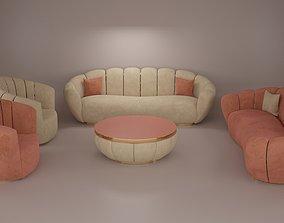 3D model Sofa- Flower