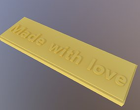 3D print model Made with love label