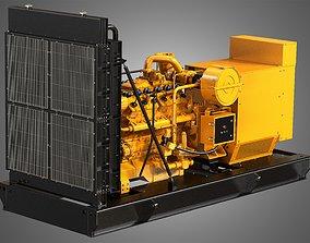 3D model G3412 Engine - V12 Diesel Generator Engine