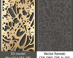 Decorative panel 36 model and vector