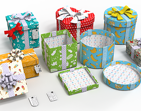 Gift Boxes vs textures 3D