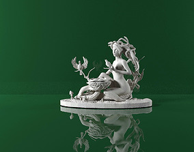 wood nymph figurine for 3D printing