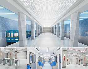 3D asset low-poly Subway Station 01