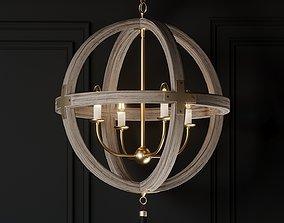 Ballards Designs Clarissa 4-Light Orb Chandelier 3D