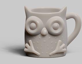 3D printable model Owl cup