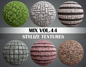 3D model Stylized Mix Vol 44 - Hand Painted Texture Pack