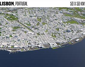 Lisbon Portugal 3D