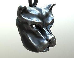 3D printable model Canine pendant