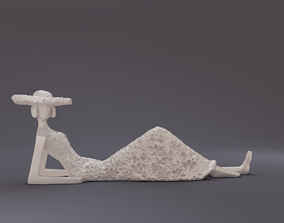 lady on vacation 3D print model