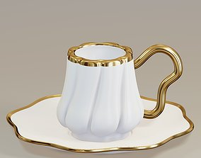 Turkish Porcelain Coffee Cup 3D model