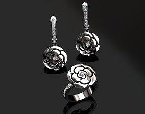 3D printable model Ring and Earrings platinum