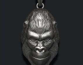 Gorilla pendant 3D printable model
