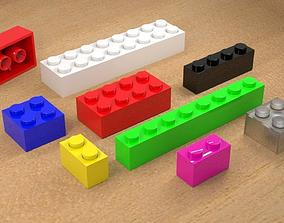 LEGO TYPE BLOCKS 3D model