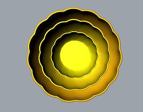 Children Chrysanthemum flower ceramic bowl 3D model