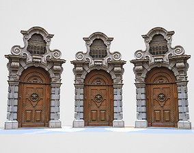 Wooden Door 3D asset realtime