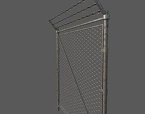 3D model Military Damaged Chainlink Fence