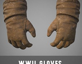WWII Gloves 3D asset