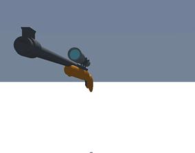 Military Cartoon Sniper 3D asset rigged