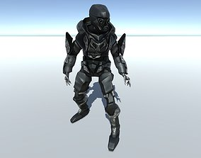Military Stealth Cyborg Animated 3D model