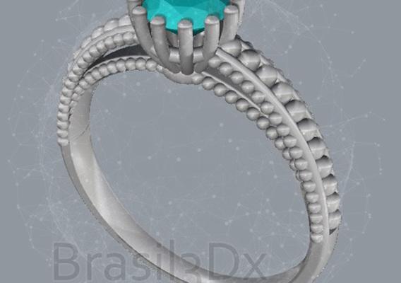 Ring milgrain 3D file