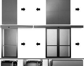 exit 3D Automatic Sliding Metal Fire Doors