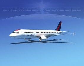 3D model Airbus A320 LP TACA