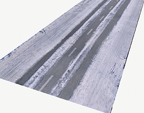 Snow Road BPR Texture 3D asset