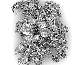 3D print model panel a bouquet of flowers as a