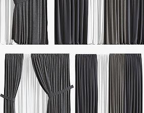 Curtain set 02 3D model