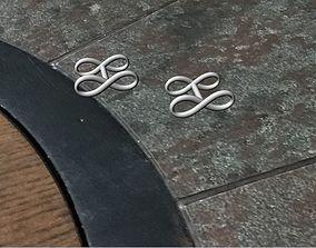 Infinity cufflinks 3D print model