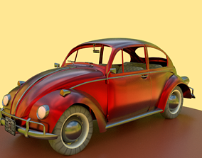 game-ready Wolkswagen beetle car 3D