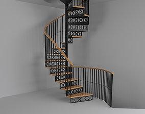Stairs 3D model screw