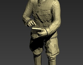 German officer WWII 3D print model