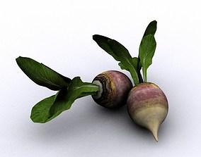 Turnip 3D model animated