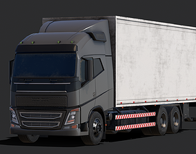 realtime Low Poly Truck Model