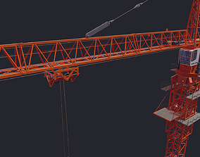 Tower Crane Low Poly 3D model
