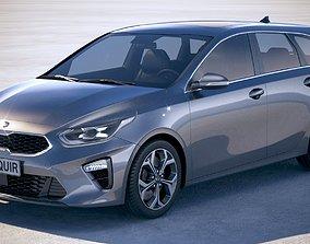 3D Kia Ceed Sportswagon 2019 with interior